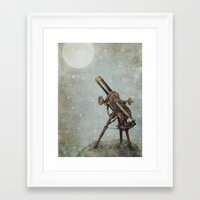 moonrise Framed Art Prints featuring Moonrise by Eric Fan