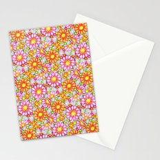 Summer Daisies Tiled Pattern Stationery Cards