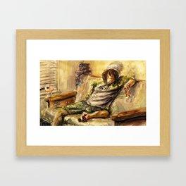 What Real Men Do Framed Art Print