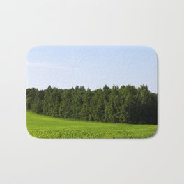hilly area on an agricultural field Bath Mat
