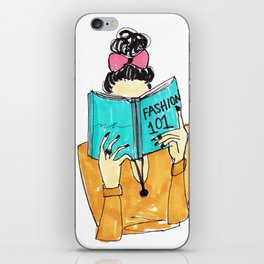 Fashion Print, Fashion 101, Fashion Illustration Print, Pinales Illustrated iPhone Skin