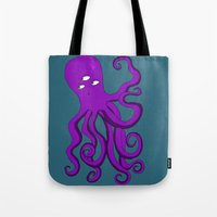 occult Tote Bags featuring Occult Octopus by mystmoon