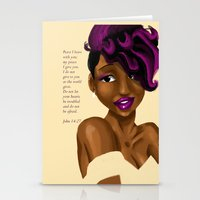 scripture Stationery Cards featuring Splash of Color (with scripture) by RM2 Designs