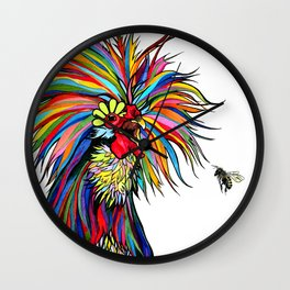 RobiniArt Chicken and Bee Wall Clock