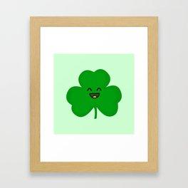Happy Shamrock Framed Art Print