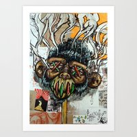 Ape Shrunkhead Art Print