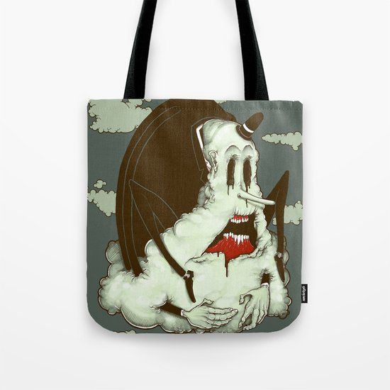 Creep Cloud Face Melt Tote Bag