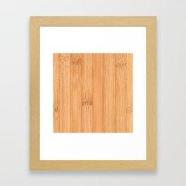 Cool elegant light brown bamboo wood print Framed Art Print