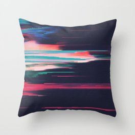 Glitched v.5 Throw Pillow