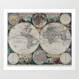 Atlas Maritimus - Vintage World Map Art Print