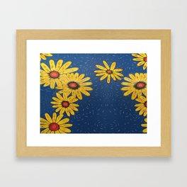 Java Sunflowers Framed Art Print
