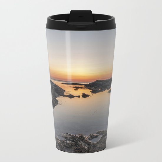 Spring Sunset at Plum Cove Beach Metal Travel Mug
