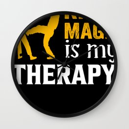 Krav Maga therapy fighter kickboxing Wall Clock