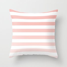 Pink and White Ombre Stripe Throw Pillow