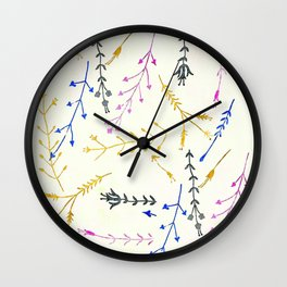 Colours of Summer Wall Clock