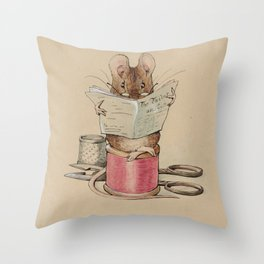 Beatrix Potter Tailor Mouse Throw Pillow