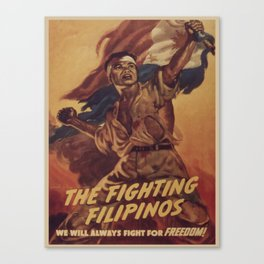 Vintage poster - The Fighting Filipinos Canvas Print