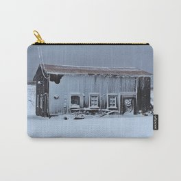 Snow Caked Barn Carry-All Pouch