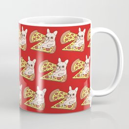 Cream Frenchie invites you to her Pepperoni pizza party Coffee Mug