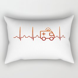 EMT Heartbeat Rectangular Pillow
