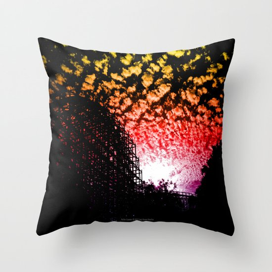 Roller Coaster 007 Throw Pillow