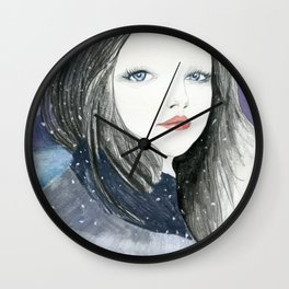 Embracing A Misty Morning Wall Clock