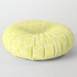 Summery Happy Yellow Honeycomb Pattern - MIX & MATCH Floor Pillow
