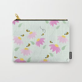 Pretty Flowers & Buzzing Bees Carry-All Pouch