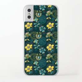 Flowers and embroidery frames Clear iPhone Case