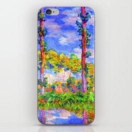 Claude Monet Poplars in the Sun iPhone Skin