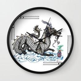 Bonsai Dragon Wall Clock
