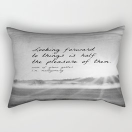 Anne Green Gables Quote Looking Forward Rectangular Pillow