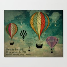 1er vuelo Aerostático en España Canvas Print