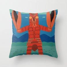 Alien Baltan Throw Pillow