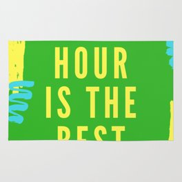 happy hour is the best hour Rug