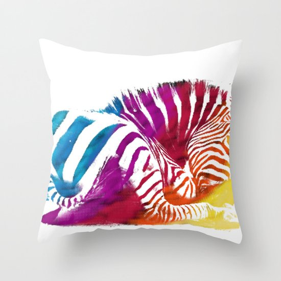 CEBRA Throw Pillow