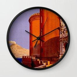 Napoli - Naples Italy Vintage Travel Wall Clock