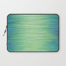 Ombre Aqua Bliss painting Laptop Sleeve