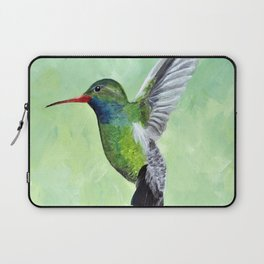 Green Hummingbird Art, Small Bird Painting, Birds and Berry Studio Laptop Sleeve