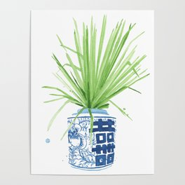 Ginger Jar + Fan Palm Poster