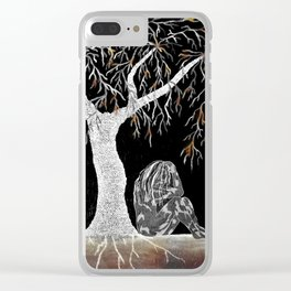 A Branch of Life to Contemplate Clear iPhone Case