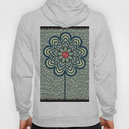 Rubino Zen Flower Yoga Mandala One World One Love Hoody