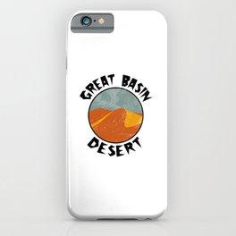 Great Basin Desert  TShirt Deserts Shirt Sand Dune Gift Idea iPhone Case
