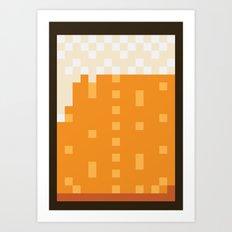 Pixel Beer Art Print