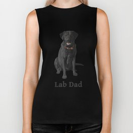 Lab Dad Black Labrador Retriever Biker Tank