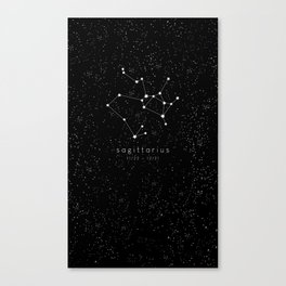 Sagittarius Zodiac Constellation Canvas Print