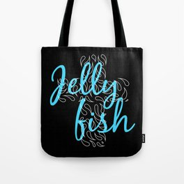 Jellyfish Cross Black Tote Bag