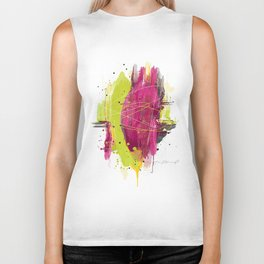 "Abstract ""Fougue"" Biker Tank"