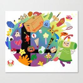 Super Smash Katamari Canvas Print