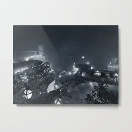 Neemrana Fort Palace B+W Metal Print